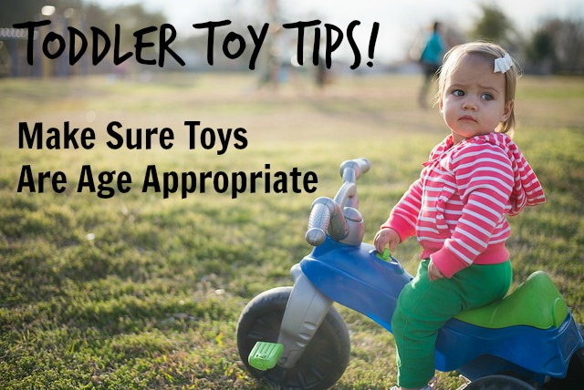 Toddler Toy Tips Make sure toys are age appropriate