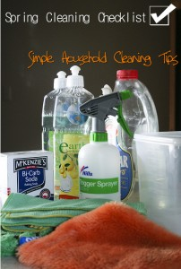 Spring Cleaning Checklist – Simple Household Cleaning Tips for a Completely Clean Home
