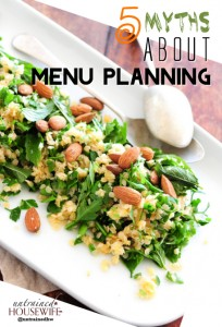 Myths About Menu Planning