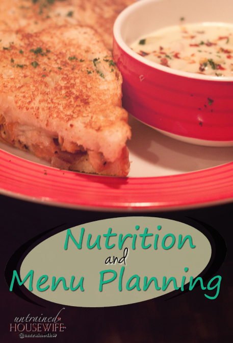 Nutrition and Menu Planning