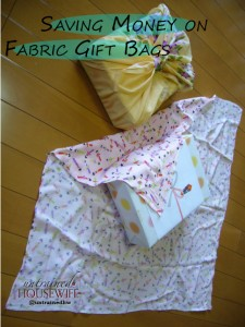 Cheap Ways to Sew Fabric Gift Bags