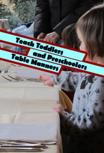 Teach Toddlers and Preschoolers Table Manners