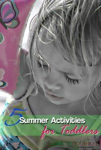 5 Summer Activities for Toddlers
