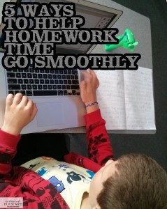 5 Ways To Help Homework Time Go Smoothly