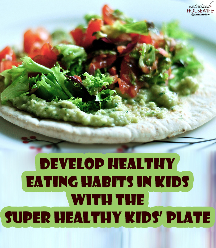 Develop Healthy Eating Habits in Kids with the Super Healthy Kids' Plate