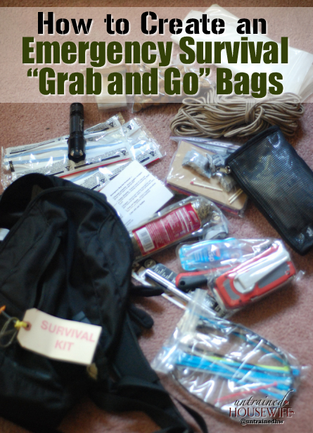Emergency Survival Grab And Go Bags For The Whole Family
