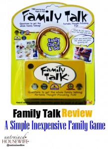 Review of Family Talk – A Simple Inexpensive Family Game That Spurs Conversation