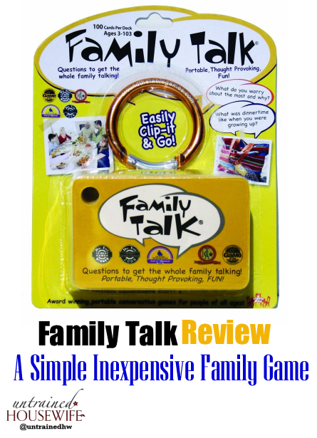 Family Talk – A Simple Inexpensive Family Game