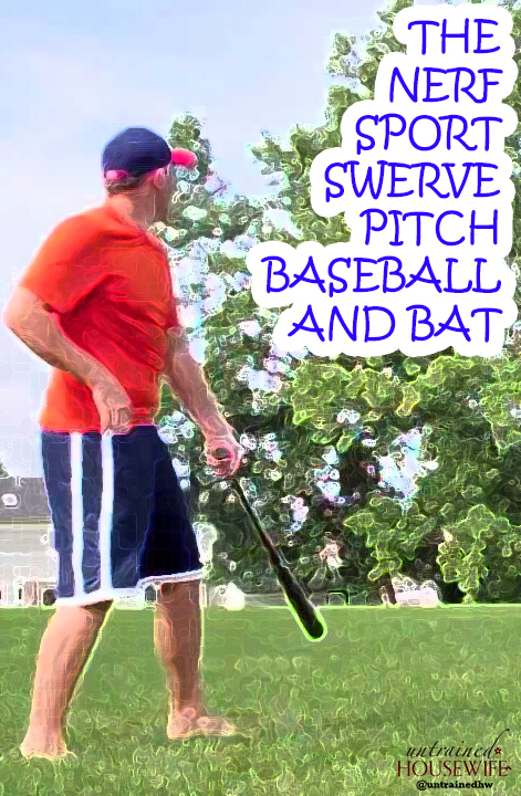 The Nerf Sport Swerve Pitch Baseball and Bat