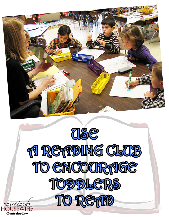 Use a Reading Club to Encourage Toddlers to Read