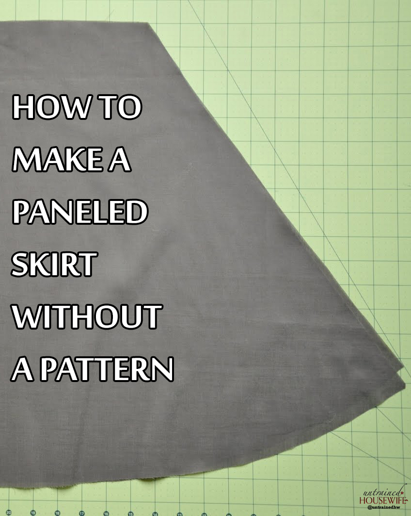 How To Make a Paneled Skirt Without a Pattern