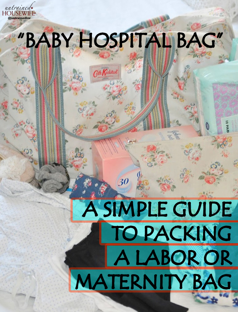 Baby Hospital Bag A Simple Guide To Packing A Labor Or