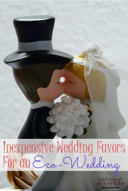 Inexpensive Wedding Favors For An Eco Wedding