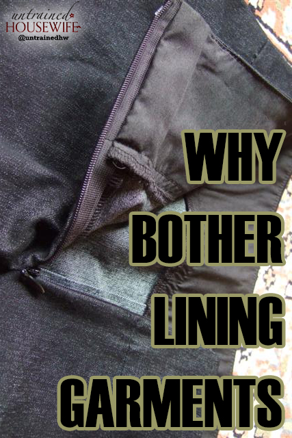 Why Bother Lining Garments