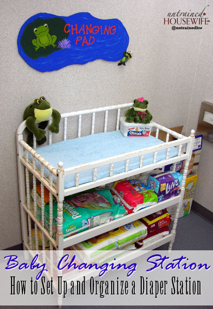 How to Set Up and Organize a Diaper Station