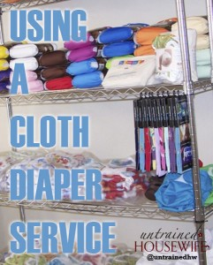 Using a Cloth Diaper Service