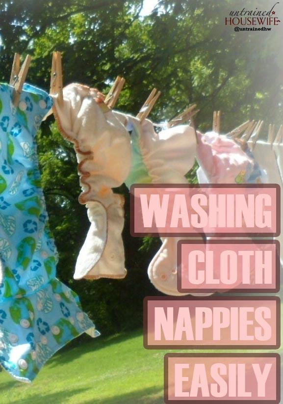 Washing Cloth Nappies Easily