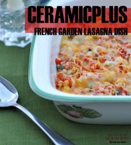 Ceramicplus French Garden Lasagna Dish