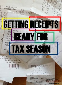 Getting receipts ready for tax season