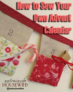 How to Sew Your Own Advent Calendar