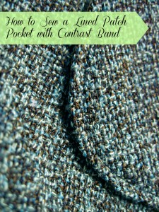 Tutorial: How to Sew a Lined Patch Pocket with Contrast Band