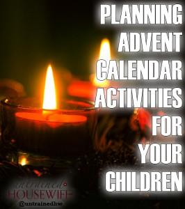 Planning Advent Calender Activities For Your Children