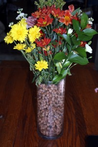 Ta da! Finished vase perfect for a fall or Thanksgiving table arrangement.