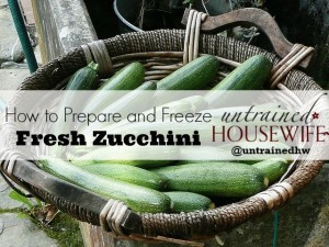 How to Prepare and Freeze Zucchini