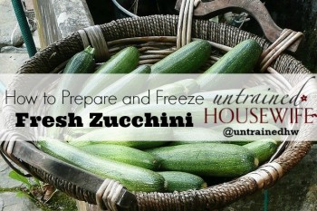 How to prepare and freeze fresh zucchini