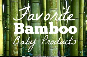 Bamboo is sturdy and environmentally friendly. These are my favorite bamboo baby products.