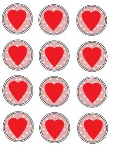 Heart Discs to Print