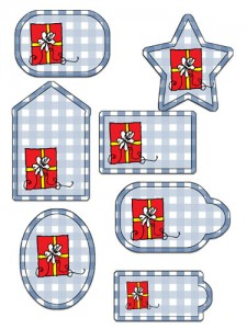 Blue Gingham Tags Preview
