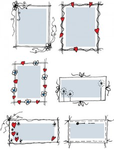 Rectangular Doodle Frames Preview