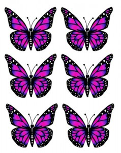 Pink Butterfly Clipart Preview