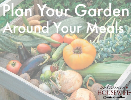 Combine meal planning and garden planning