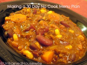 Get Prepared – 30 Day No Cook Menu Plan