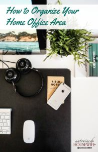 How to Organize Your Home Office Area