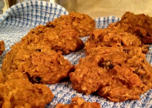 Healthy Oatmeal Raisin Snack Cookies