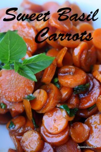 Sweet Basil Steamed Carrots