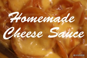 homemade cheese sauce