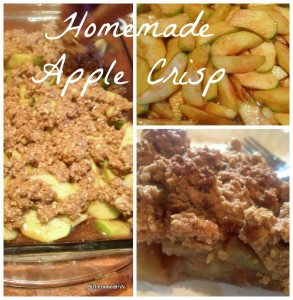 honey and oatmeal apple crisp recipe collage