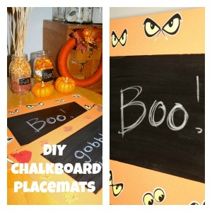 DIY Fall-Themed Chalkboard Placemats
