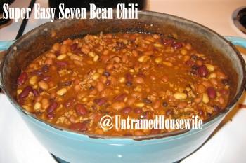 Super Easy Seven Bean Chili