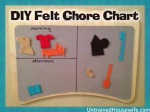 DIY Felt Chore Chart