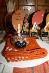 Thanksgiving Thankful Place Settings