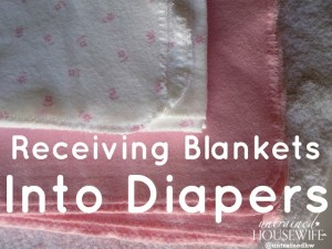 Using Receiving Blankets as Cloth Diapers {Video}