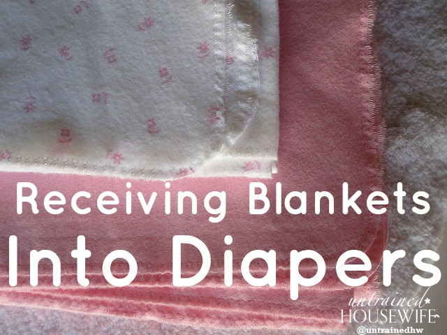How to turn a stack of receiving blankets into a stack of diapers. via @UntrainedHW