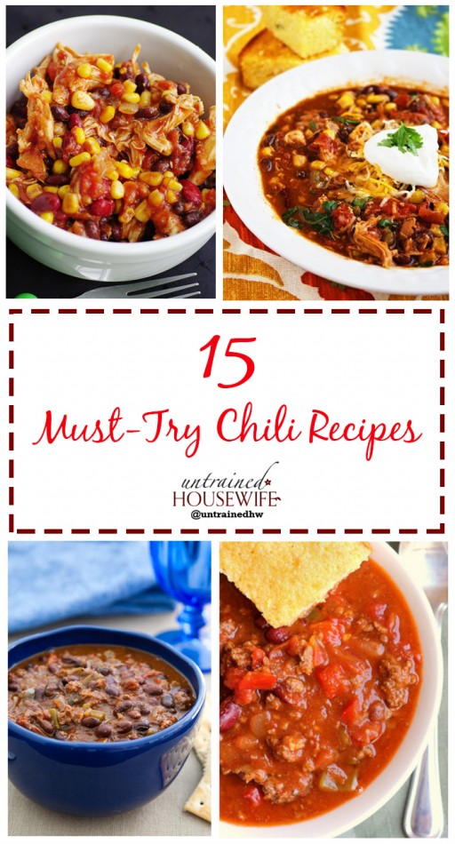 15 Must-Try Chili Recipes @UntrainedHW