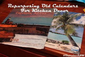 Repurposing Old Calendars for Kitchen Decor