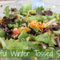 colorful winter tossed salad